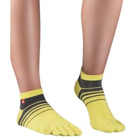 Knitido Spins Running Socks, jaune/gris